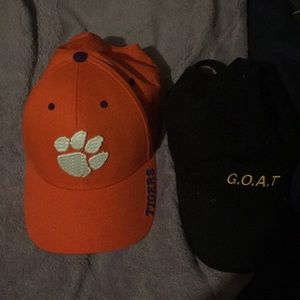 Hats 7 dollars a piece or 12 for both
